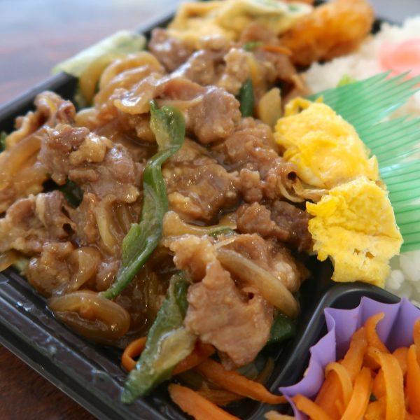 お肉と野菜と卵焼き