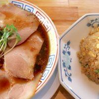 サバ6製麺所Plusでサバ醤油そば&やきめし