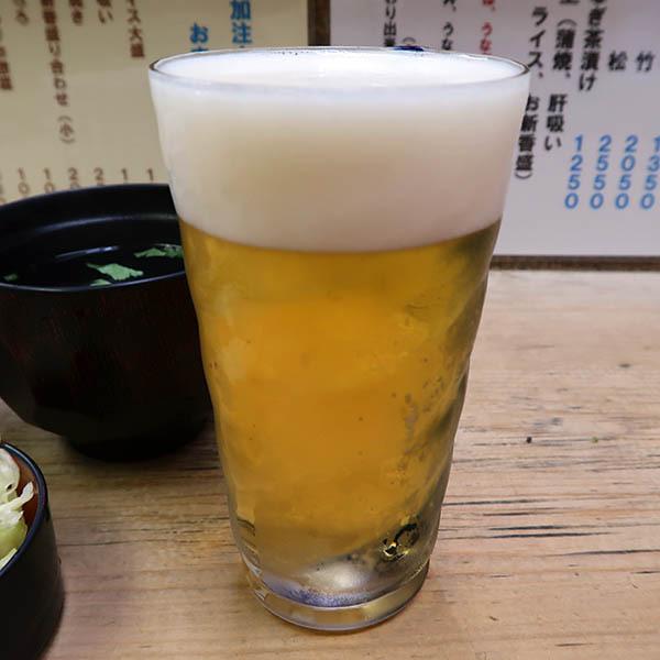 ランチビール(200円)