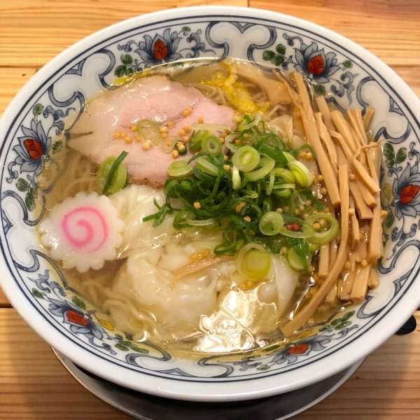 ぬーじボンボンメンデス 海老ワンタン鶏塩そば(500円)