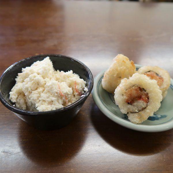 おからサラダと寿司揚げ
