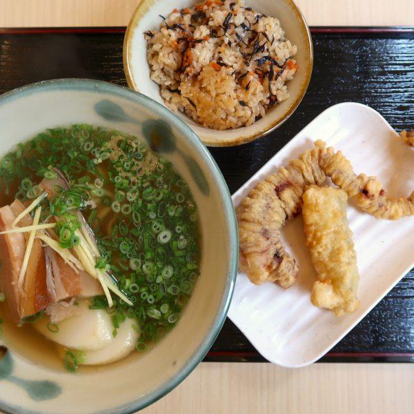 三枚肉そば&じゅーしー&天ぷら