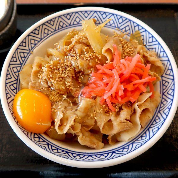 豚スタミナ丼 アタマの大盛り(550円)