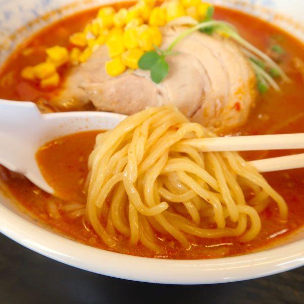 昔懐かしいタイプの麺とスープ