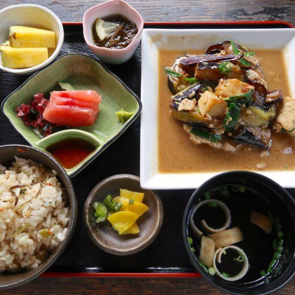 茄子味噌定食(850円)