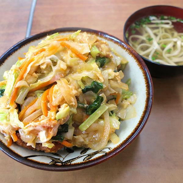 かつ丼(550円)