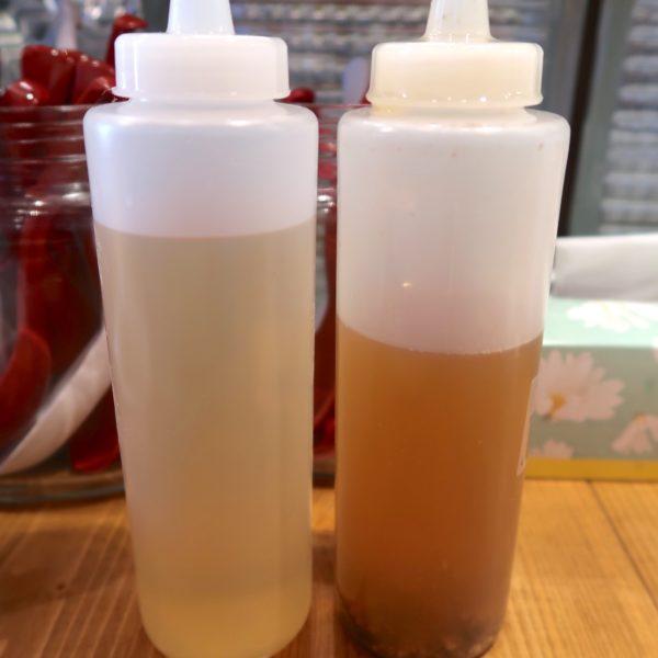 お酢と煮干し油