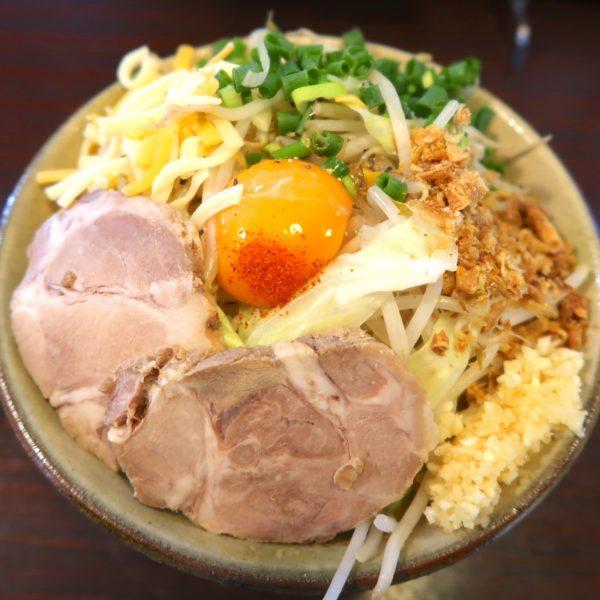 汁なしG麺 チーズ ネギ(850円)