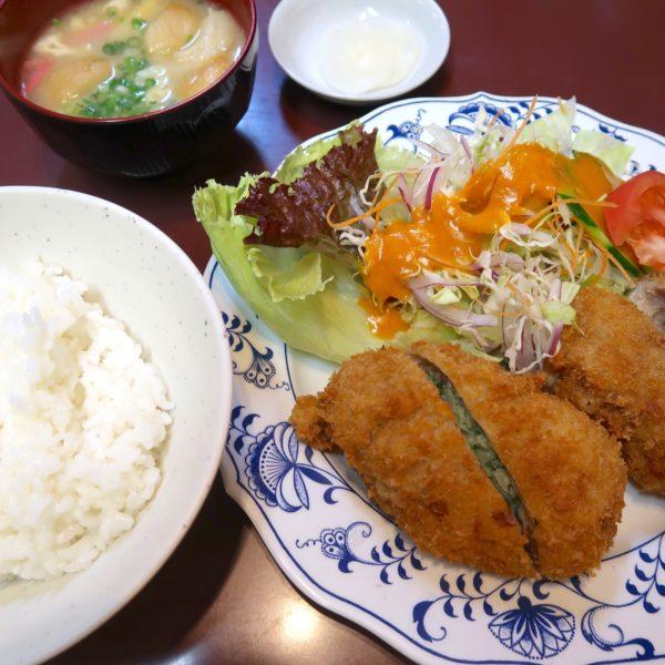 かつぎょうざ定食(1,000円)