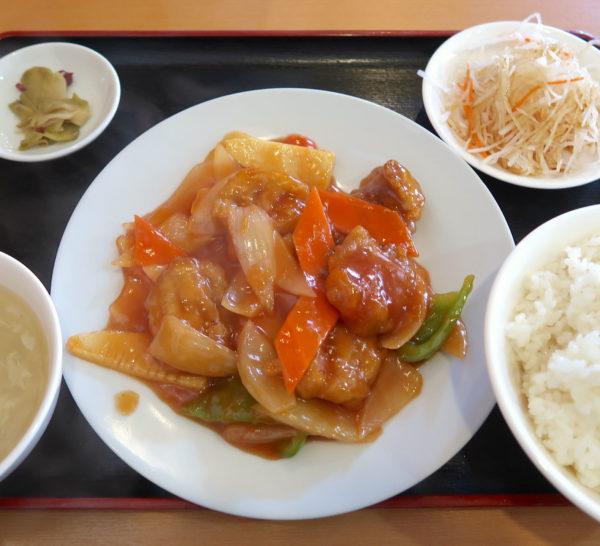 酢豚定食(900円)