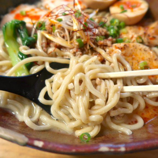 太麺に濃厚なスープ