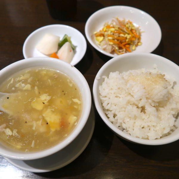 ご飯とスープと前菜