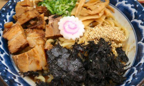 三竹寿で濃厚豚骨魚介まぜそば