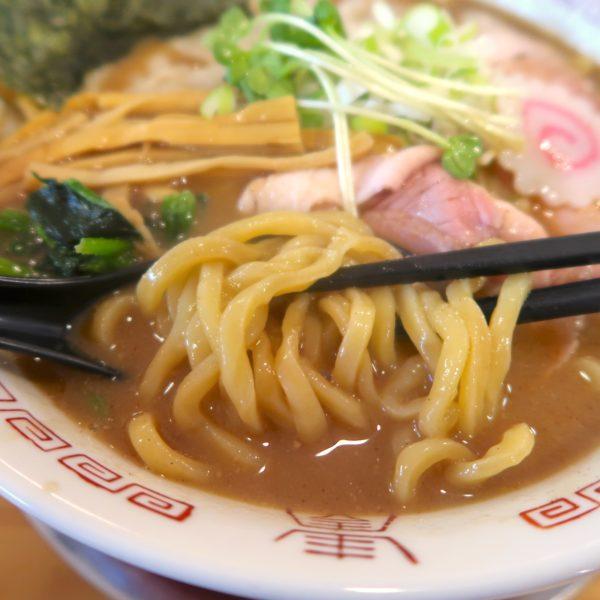 ドロっとスープ&太麺