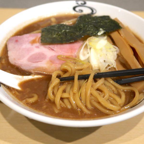 太麺にドロスープ