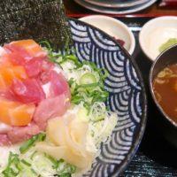 食彩館 新都心店で海鮮丼+赤出汁セット